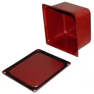 Коробка протяжная металлическая загрунтованная 100х100х80мм с уплотнителем