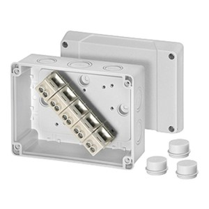 Коробка клеммная Hensel K 9105 125х167х82мм IP55, 3 сальника ESM 25, клеммник KLS 10