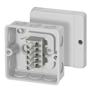 Коробка клеммная Hensel DE 9325 88х88х47мм IP55, 10 эластичных мембран, клеммник DKL 04