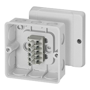 Коробка клеммная Hensel DE 9345 98х98х52мм IP55, 10 эластичных мембран, клеммник DKL 04
