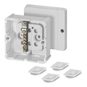Коробка уравнивания потенциалов Hensel DP 9026 88х88х49мм IP54 клеммник 1х4-25 мм и 5х4-10 мм