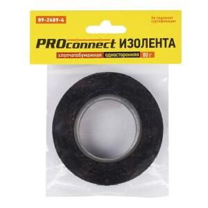 Изолента двусторонняя х/б Proconnect 80 гр. черная