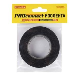 Изолента двусторонняя х/б Proconnect 110 гр. черная
