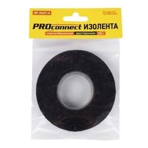 Изолента двусторонняя х/б Proconnect 200 гр. черная