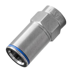 F-разъем CAVEL «Push-On» для кабелей типа SAT 50, SAT 703, DG 113, KF 113