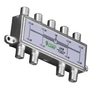 Делитель ТВ LANS 8 выходов 5-1000 МГц под F-разъём