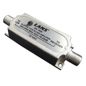 Усилитель ПЧ SAT 950-2050 МГц коэффициент усиления 16-24 дБ
