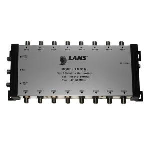 Мультисвитч 3 х 16 LANS 3 входа (2 SAT + 1 TV), 16 выходов, активный, с внешним блоком питания