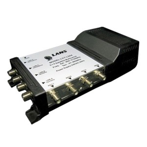 Мультисвитч 5 х 4 LANS 5 входов (4 SAT + 1 TV), 4 выхода, активный, встроенный блок питания