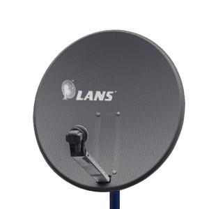 Антенна перфорированная офсетная LANS-120 с азимутальной фиксиpованной подвеской темная
