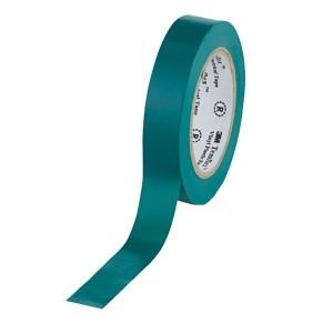 Изолента ПВХ 3M Temflex 1300 зеленая 15мм х 10 метров (от 0°С до +60°С)