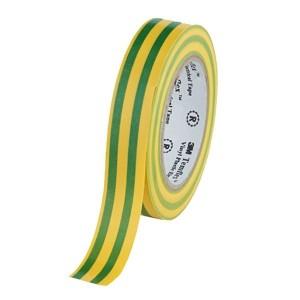 Изолента ПВХ 3M Temflex 1300 желто-зеленая 15мм х 10 метров (от 0°С до +60°С)