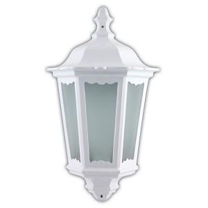 Светильник садово-парковый Классика 6206 E27 240*110*435мм белый (половинка на стену)