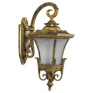 Светильник садово-парковый Валенсия PL4022 E27 240*355*620мм черное золото (на стену вниз)