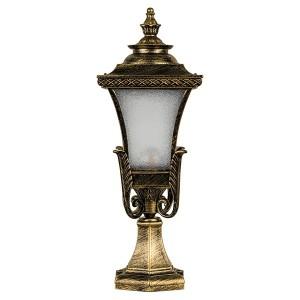 Светильник садово-парковый Валенсия PL4023 E27 240*240*650мм черное золото (на постамент)
