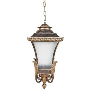 Светильник садово-парковый Валенсия PL4024 E27 240*240*520мм черное золото (на цепочке 500мм)