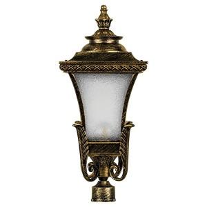 Светильник садово-парковый Валенсия PL4025 E27 240*240*545мм черное золото (на столб)