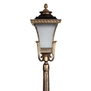 Светильник садово-парковый Валенсия PL4026 E27 240*240*1230мм черное золото (столб 1,2 м)
