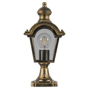 Светильник садово-парковый Византия PL4013 E27 170*100*345мм черное золото (на постамент)