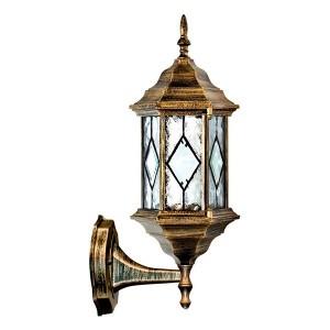 Светильник садово-парковый Витраж PL121 E27 165*200*430мм черное золото на стену вверх