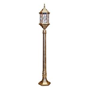 Светильник садово-парковый Витраж PL126 E27 160*160*1200 черное золото (столб 1.2м)