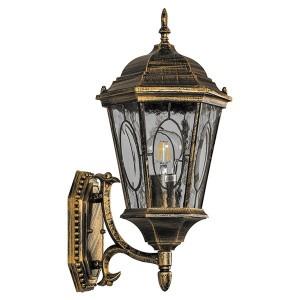 Светильник садово-парковый Витраж PL160 E27 205*245*440мм черное золото (малый на стену вверх)