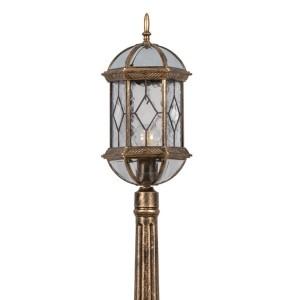 Светильник садово-парковый Витраж PL170 E27 205*180*1150мм черное золото (столб 1,15м)