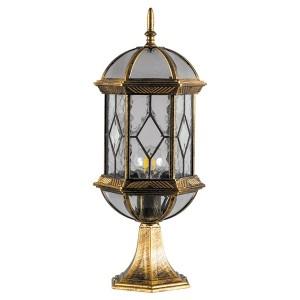 Светильник садово-парковый Витраж PL171 E27 205*180*500мм черное золото (на постамент 0,51м)
