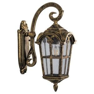Светильник садово-парковый Замок PL103 E27 150*255*480мм черное золото на стену вниз