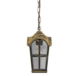 Светильник садово-парковый Замок PL106 E27 150*150*740мм черное золото на цепочке