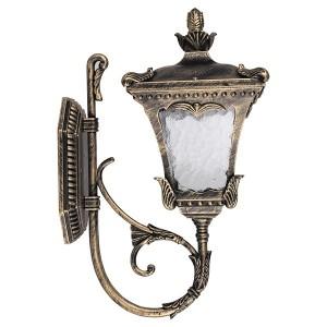 Светильник садово-парковый Лепнина 6003QS E27 180*265*415мм черное золото (на стену вверх)