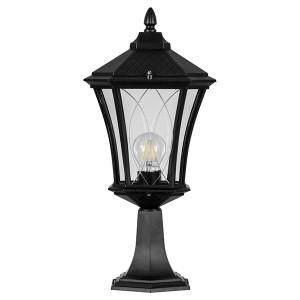 Светильник садово-парковый Лондон PL4033 E27 230*230*505мм черный (на постамент)