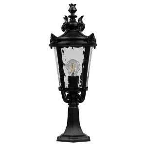 Светильник садово-парковый Прага PL4004 E27 230*230*570мм черный на постамент