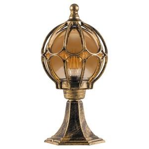 Светильник садово-парковый Сфера PL3704 E27 180*180*380мм черное золото на постамент