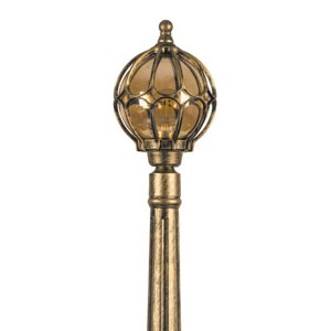 Светильник садово-парковый Сфера PL3707 E27 180*180*1620мм черное золото (столб 1.45м)