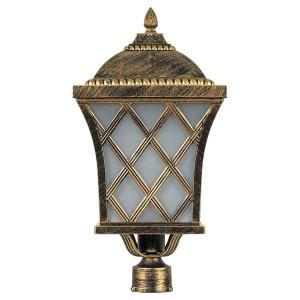 Светильник садово-парковый Тартан PL4065 E27 235*235*465мм черное золото (на столб)