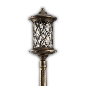 Светильник садово-парковый Тироль PL5027 E27 180*180*1675мм черное золото (столб 1,68м)