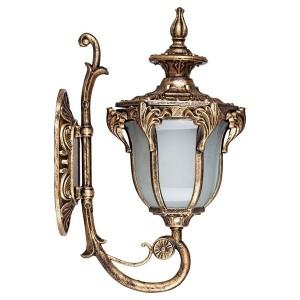 Светильник садово-парковый Флоренция PL4041 E27 270*175*410мм черное золото (на стену вверх)