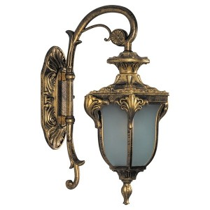 Светильник садово-парковый Флоренция PL4042 E27 270*175*410мм черное золото (на стену вниз)