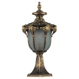 Светильник садово-парковый Флоренция PL4043 E27 200*175*430мм черное золото (на постамент)