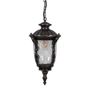 Светильник садово-парковый Шербур PL5005 E27 190*190*880мм темно-коричневое золото (на цепочке)