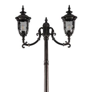 Светильник садово-парковый Шербур PL5008 E27 680*190*2200мм темно-коричневое золото (столб 2,2м)