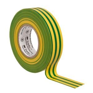 Изолента ПВХ 3M Temflex 1300 желто-зеленая 19мм х 20 метров (от 0°С до +60°С)