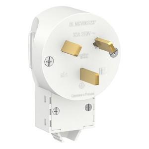 Вилка силовая Schneider Electric 2Р+N, 32А, 250В, белая