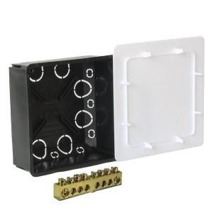 Коробка уравнивания потенциалов Промрукав 100х100х45мм скрытой установки с шиной на 8 зажимов