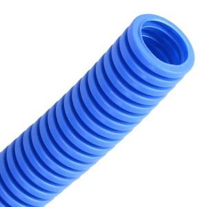 Труба гофрированная Промрукав ПП д16 лёгкая HF безгалогенная синяя (100м)