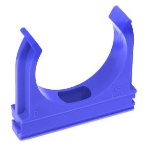 Крепёж-клипса Промрукав для труб д16 синяя [уп. 100шт]