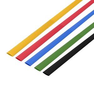 Набор термоусадочной трубки Rexant 8,0/4,0мм 1м (5 цветов по 10 метров)