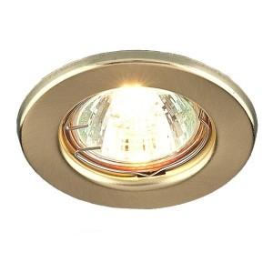 Светильник DL10/DL3201 точечный MR16 G5.3/GU5.3 золото н/п штампованный