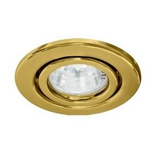 Светильник DL11/DL3202 точечный MR16 G5.3/GU5.3 золото поворотный штампованный